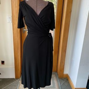 Black wrap dress size 6 from The Loft